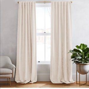 West Elm Ivory Blackout Curtains-Set of 2